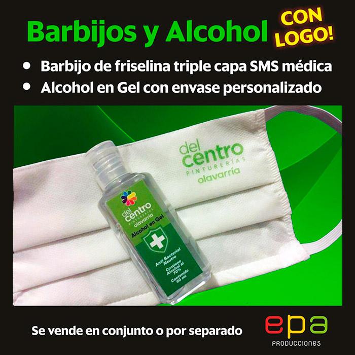 Barbijos y Alcohol con logo